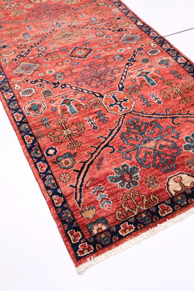 bright-red-runner-rug-patterned