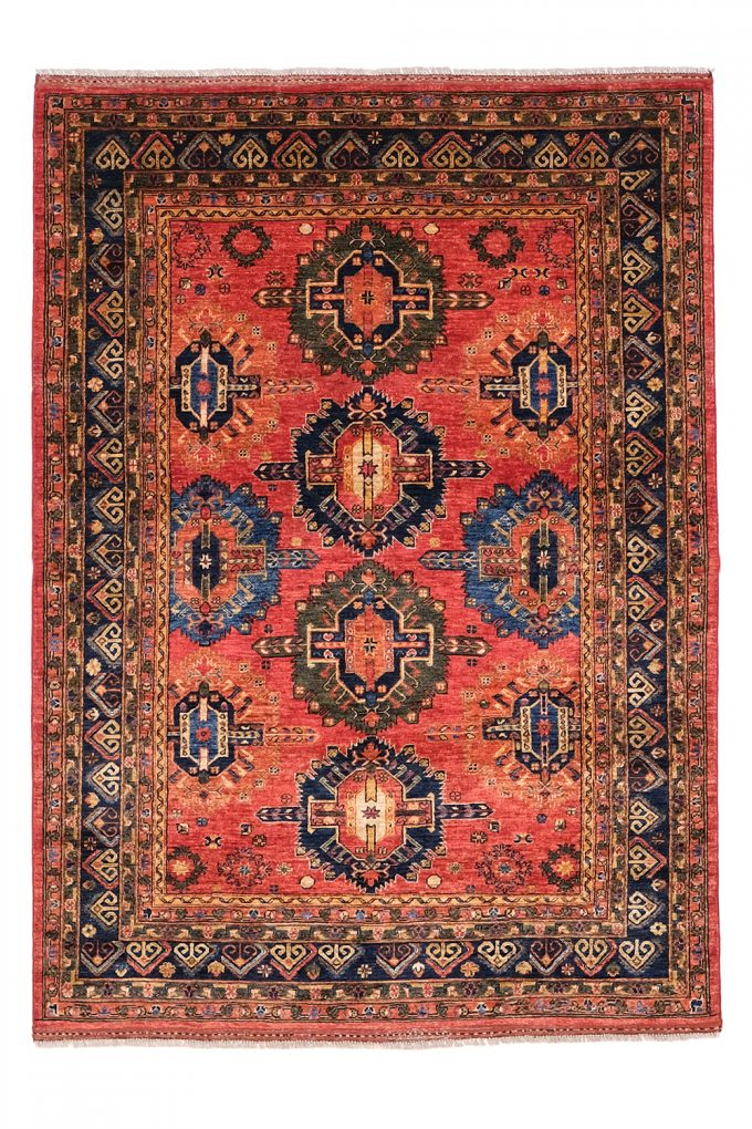patterned-red-wool-rug